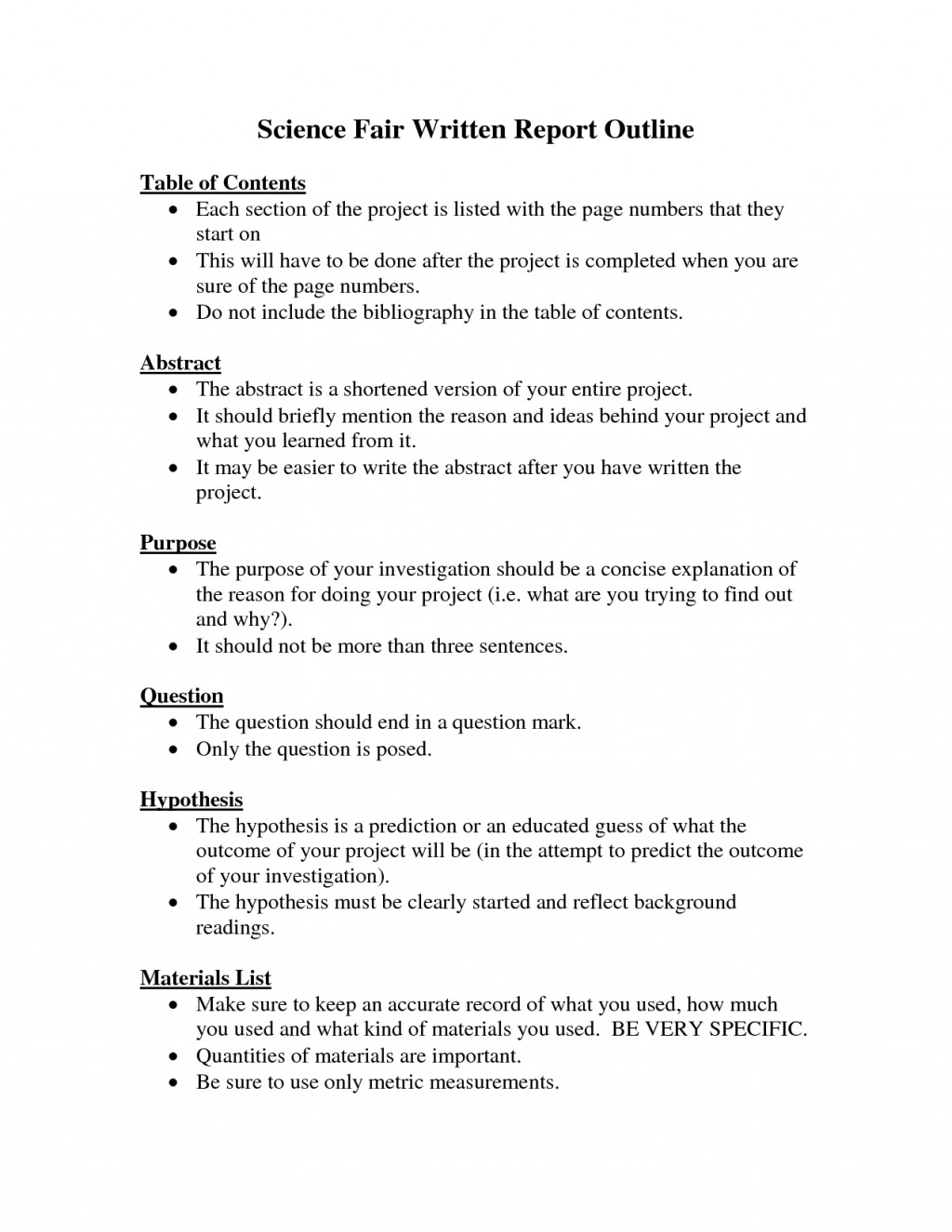 001 8th Grade Science Research Paper Stunning Outline Large