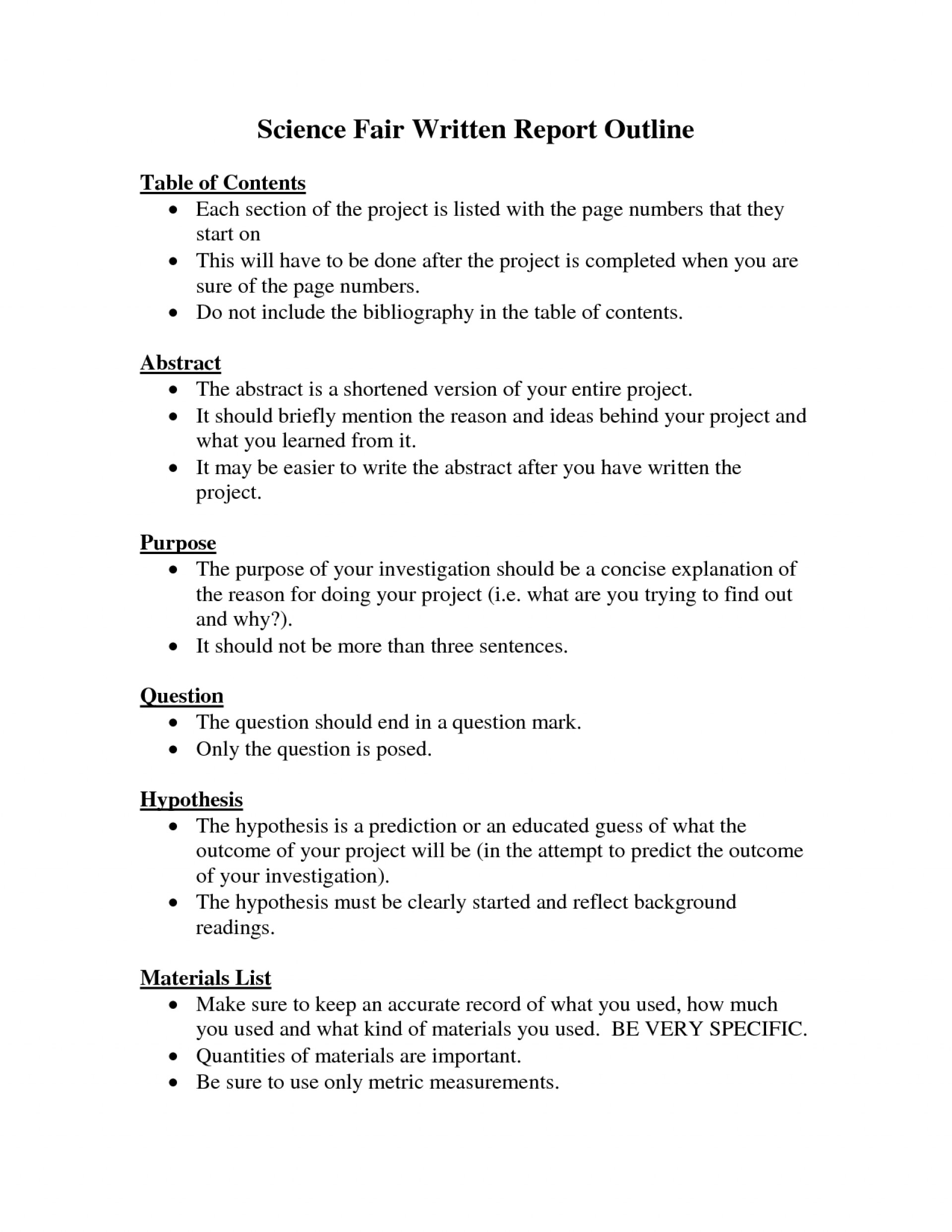 001 8th Grade Science Research Paper Stunning Outline 1920