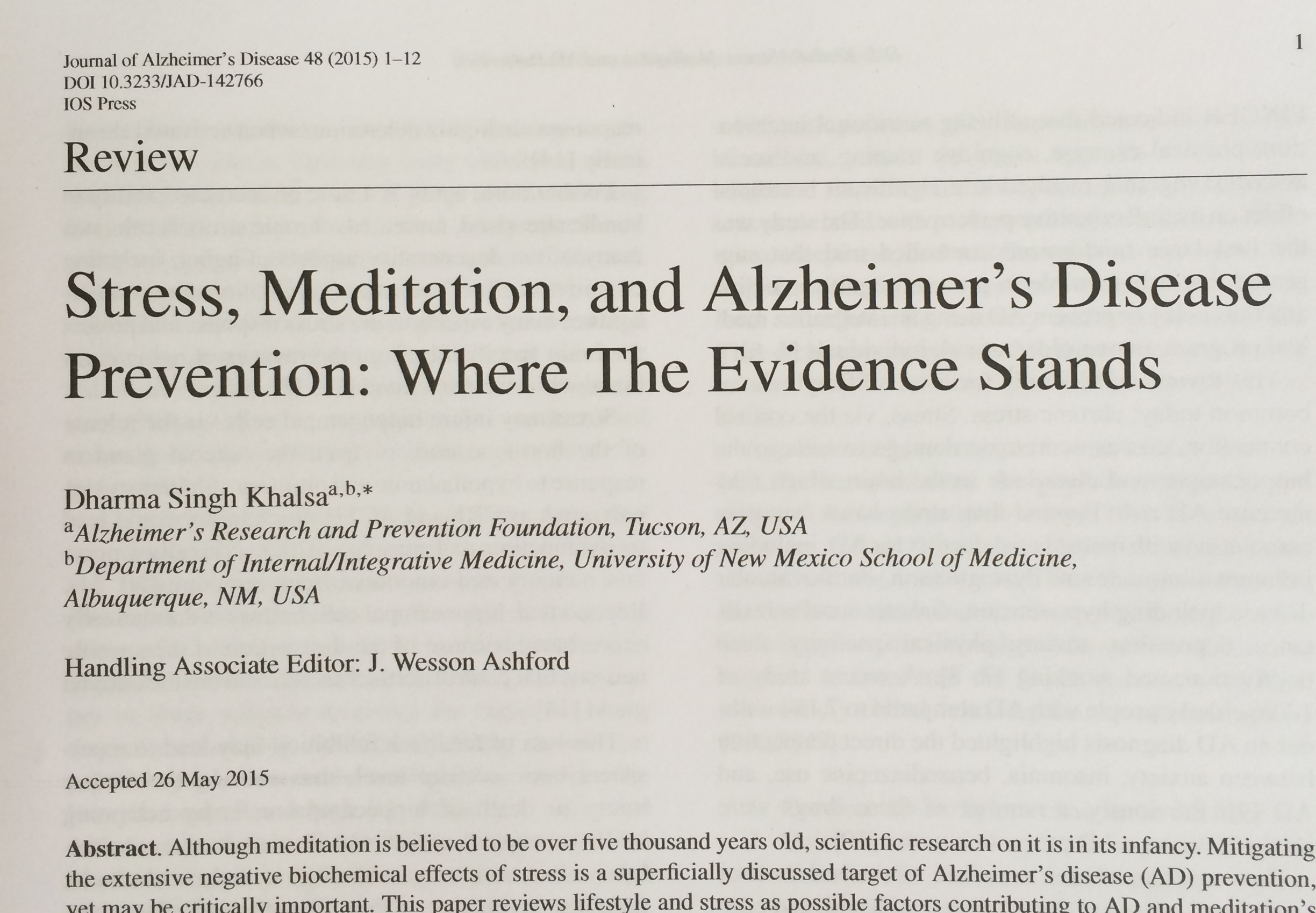 001 Abstract Alzheimers Research Paper Stress Article Exceptional Alzheimer's Full