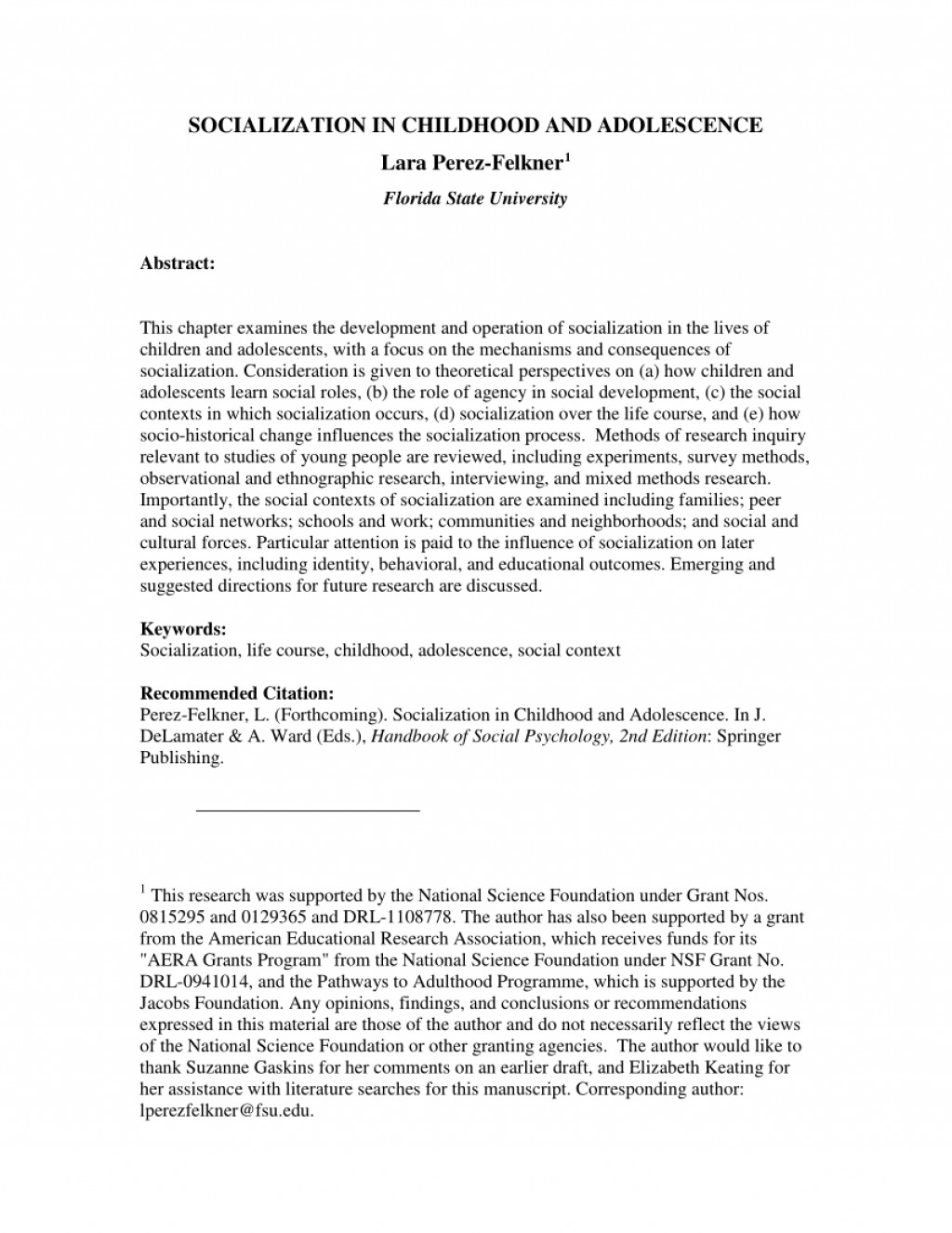 001 Abstract Research Paper About Child And Adolescent Development Pdf Outstanding Large
