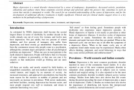 001 Abstract Research Paper About Depression Fascinating