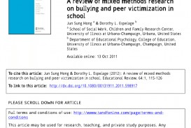 001 Action Research Study On Bullying Largepreview Surprising 320