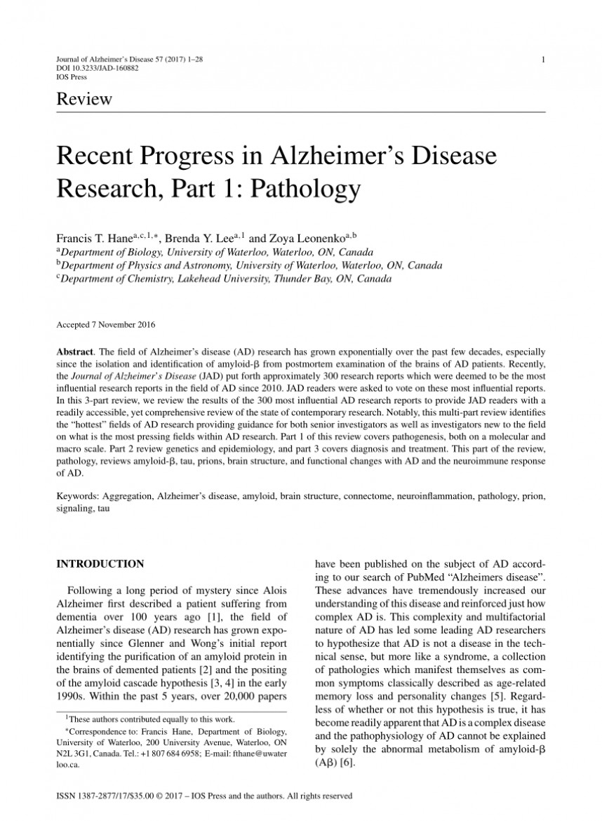 001 Alzheimers Disease Research Paper Sample Exceptional Alzheimer's Example Samples 868
