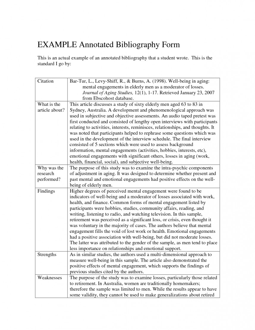 001 Annotated Bibliography Research Paper Sample Wonderful