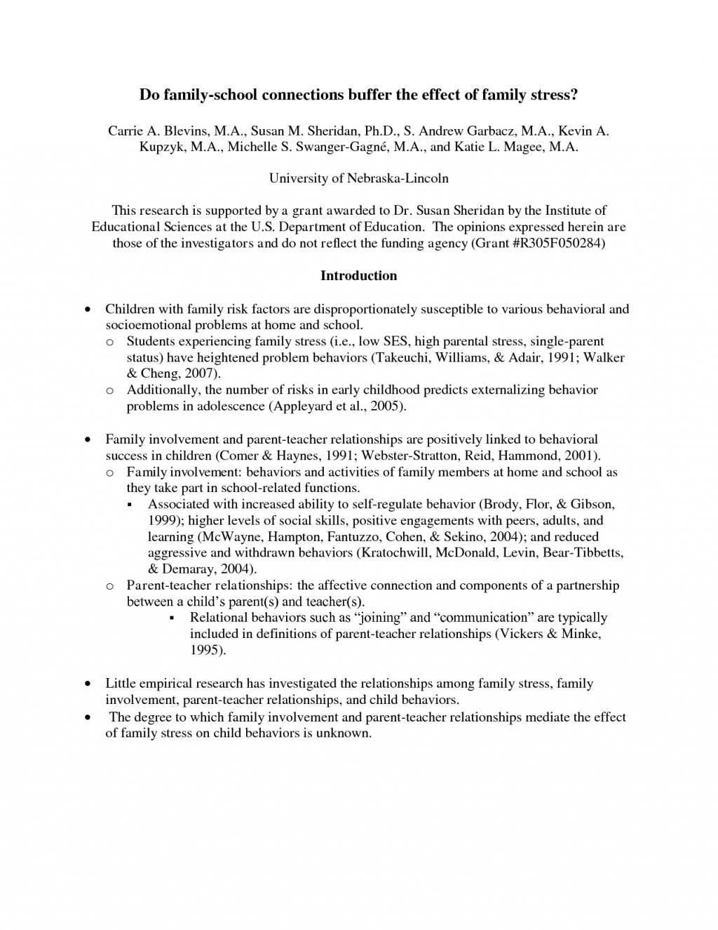 001 Apa Action Research Paper Examples Sensational Large