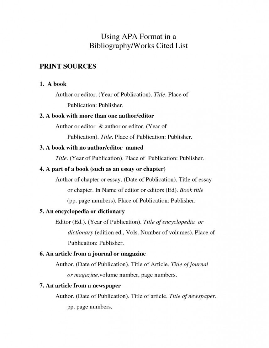 001 Apa Works Cited Research Paper Awful Sample Page Format