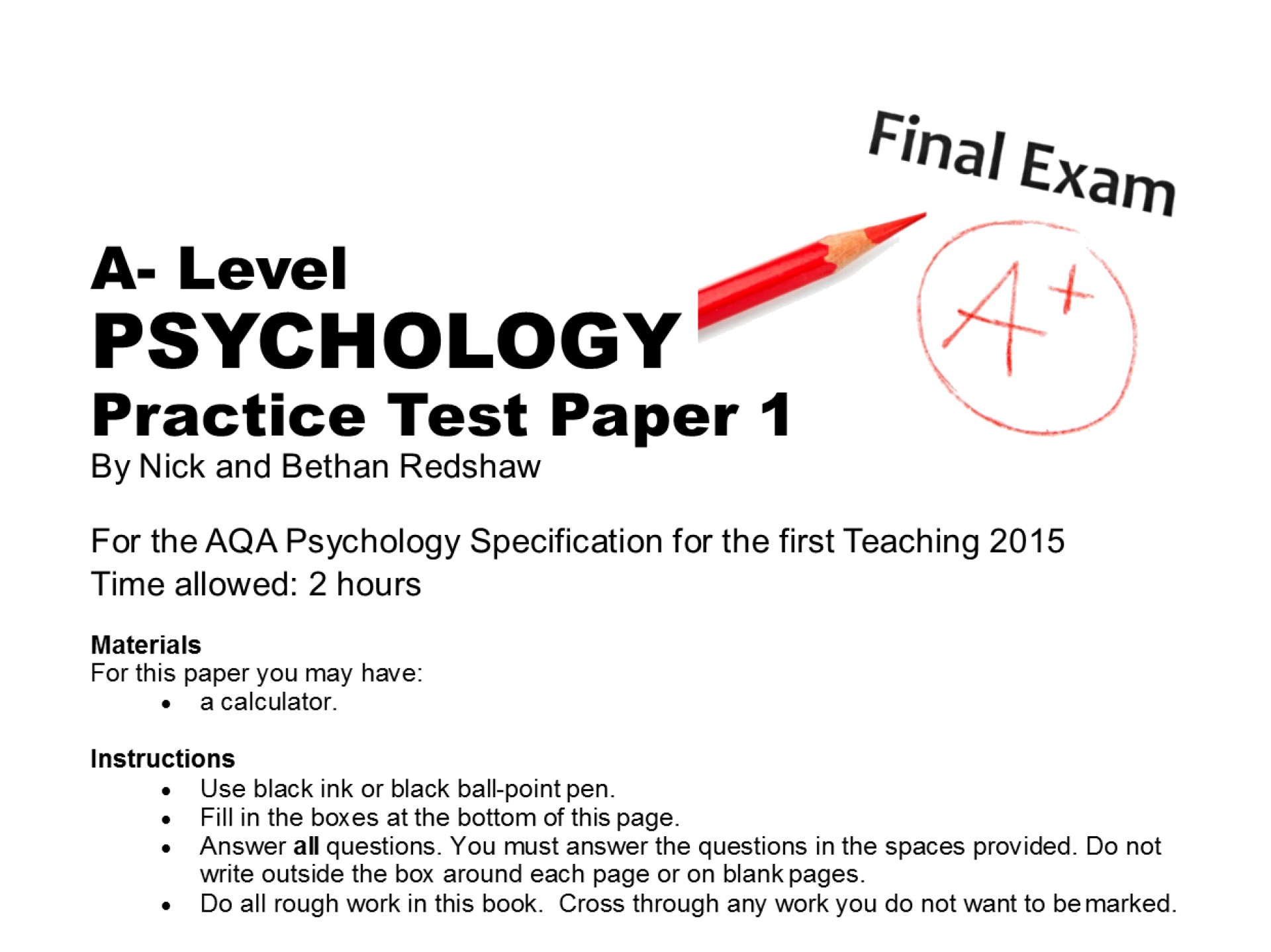 001 Aqa Psychology Research Methods Paper Questionpaper1frontcover Crop 1240x929 02c0 Excellent 1 1920