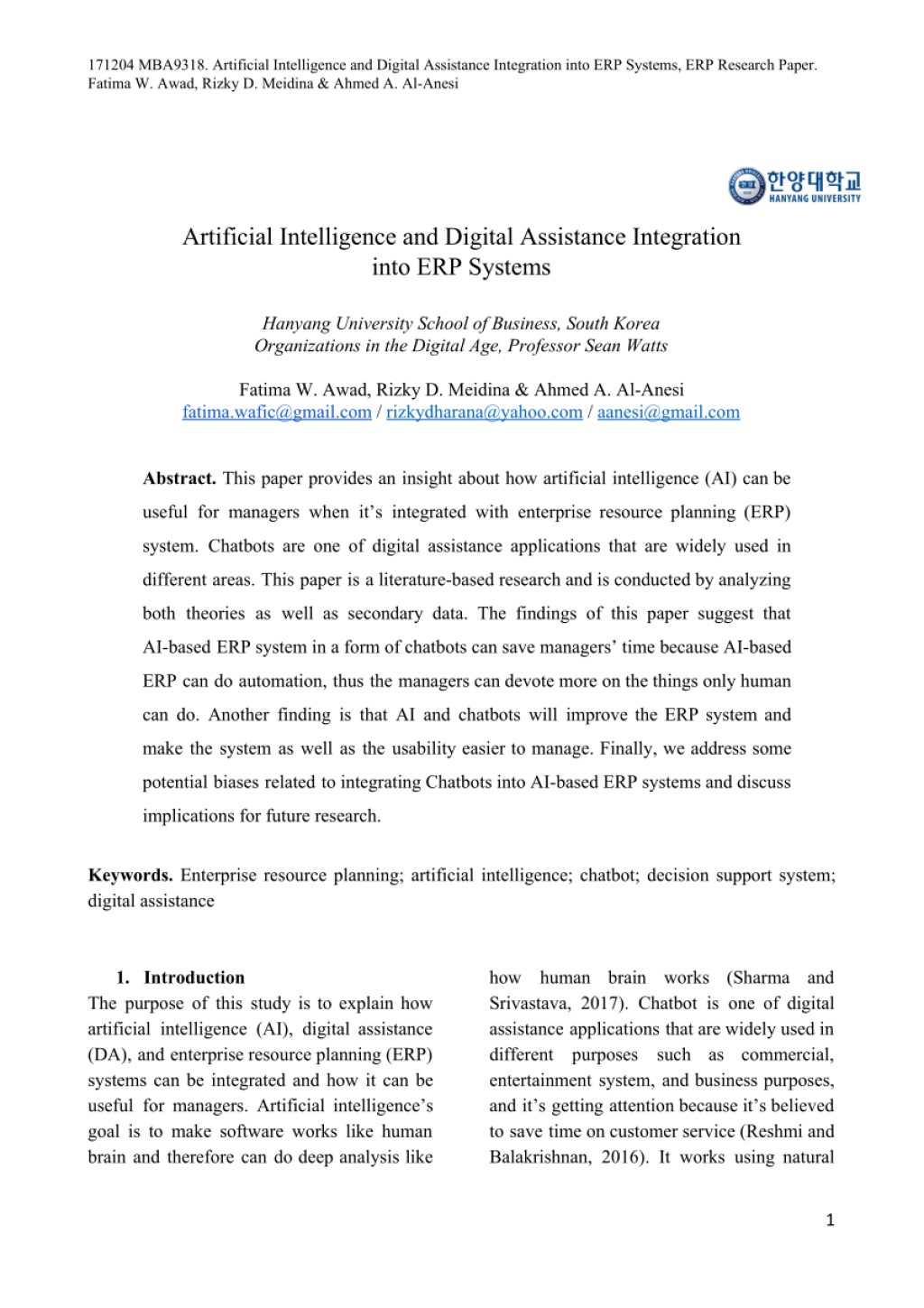 001 Artificial Intelligence Research Paper Topics Archaicawful Pdf 2018 Large