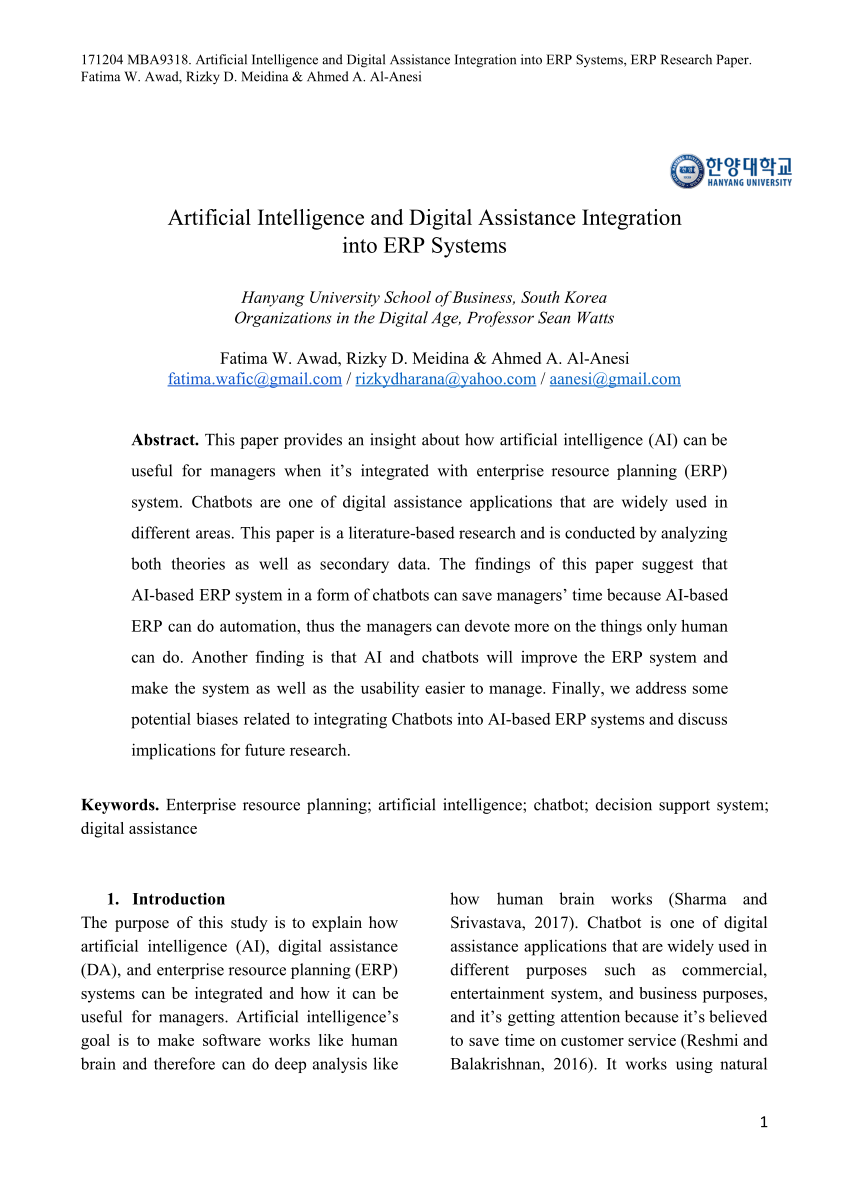 001 Artificial Intelligence Research Paper Topics Archaicawful Pdf 2018