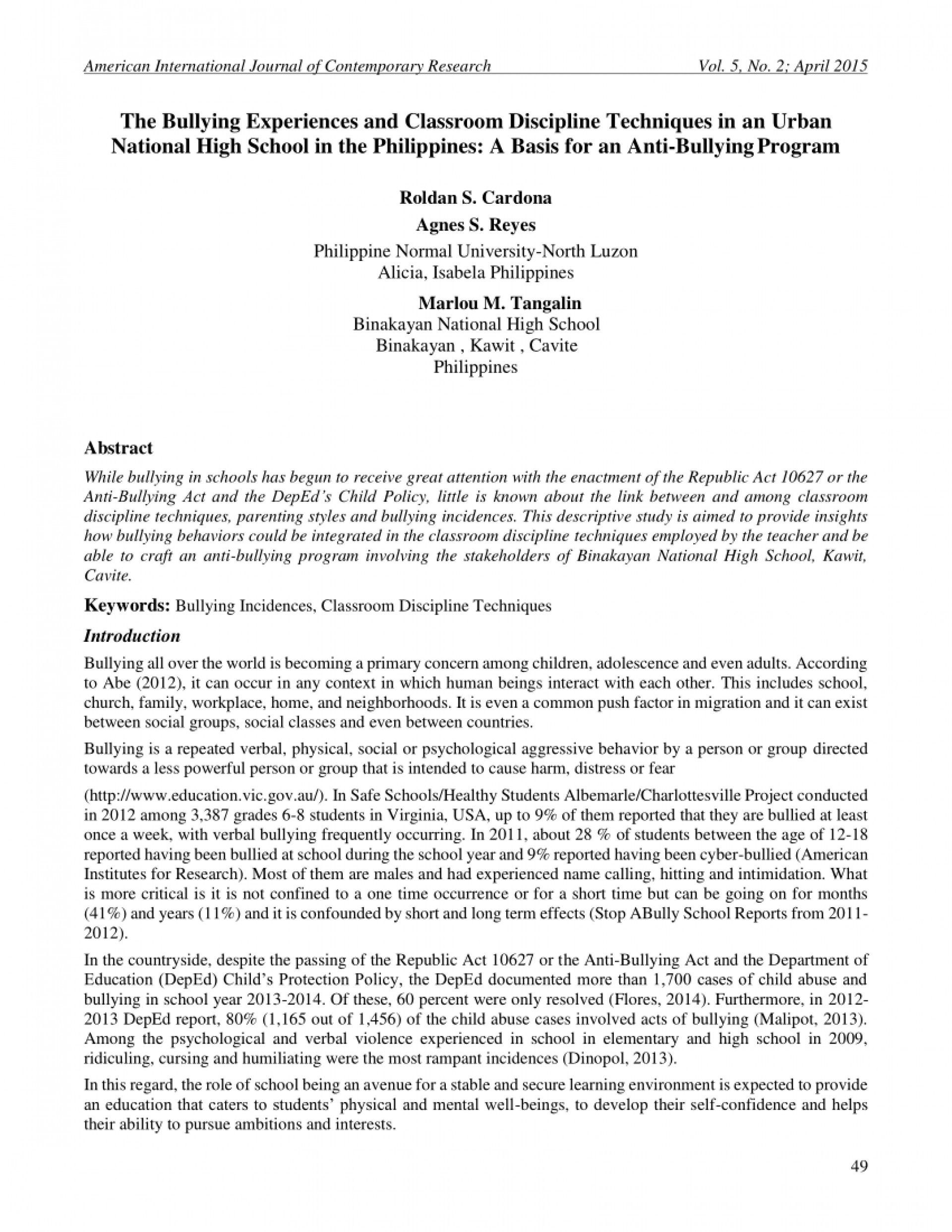 001 Bullying Research Paper Thesis Pdf Formidable About 1920