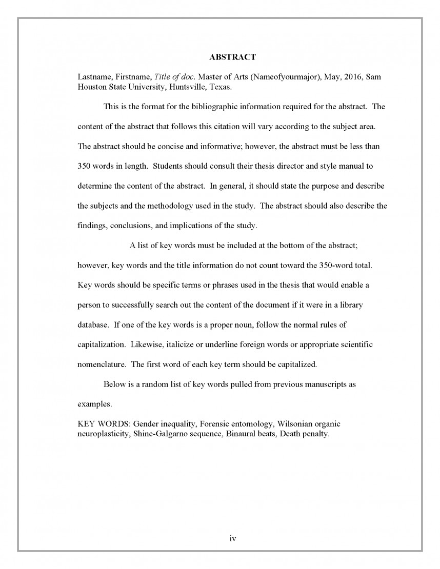 001 Business Abstract Example Border Research Wonderful Plan Proposal