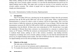001 Cashless Economy Research Paper Frightening Cash To Papers Pdf