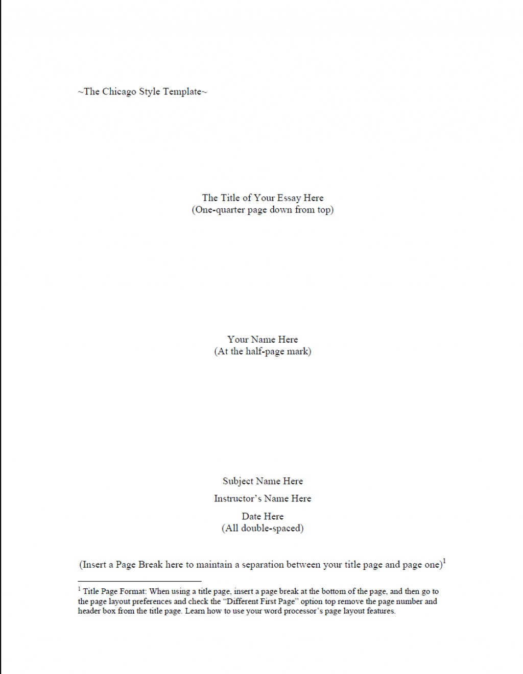 001 Chicago Style Research Paper Guidelines Paper1 Wondrous Large