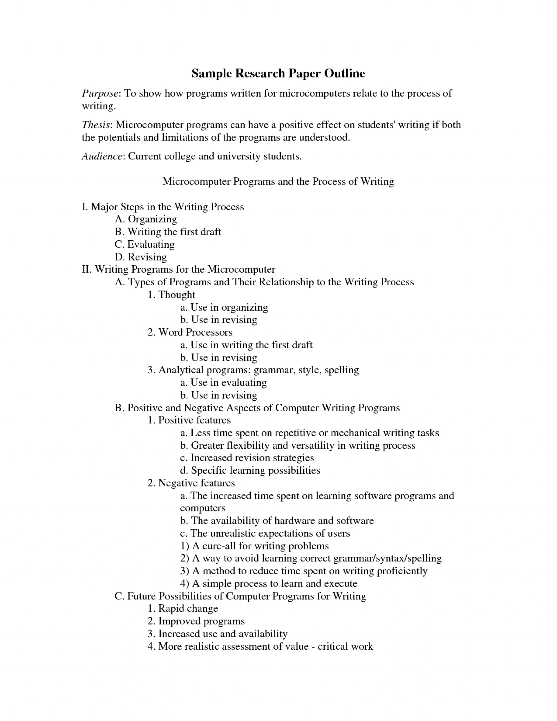 001 College Research Paper Outline Examples 477364 Example Striking Apa 1920