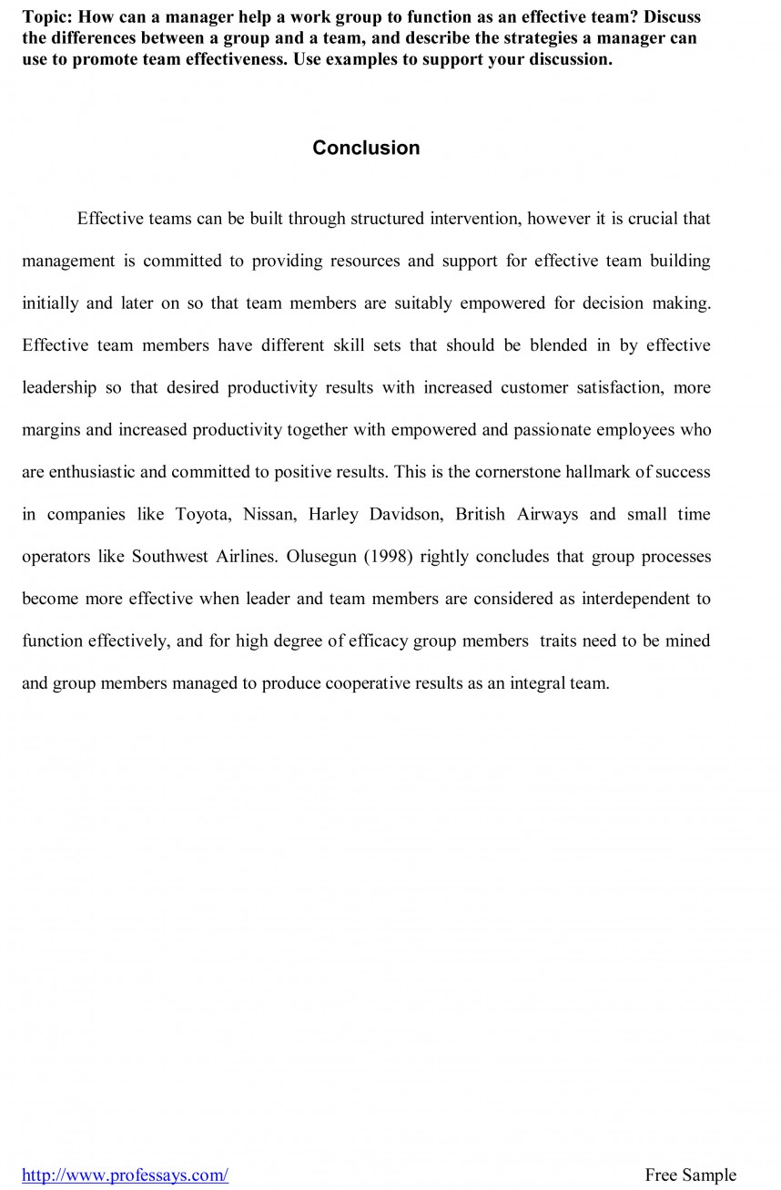 001 Conclusion Outline Research Paper Sample For Fearsome