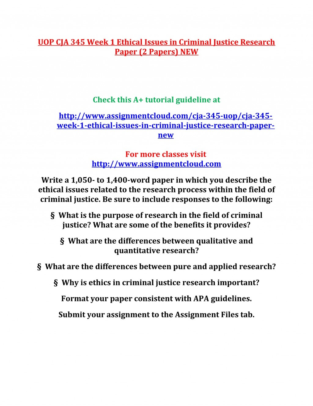 001 Criminal Justice Research Papers Paper Formidable Examples Of Free Large
