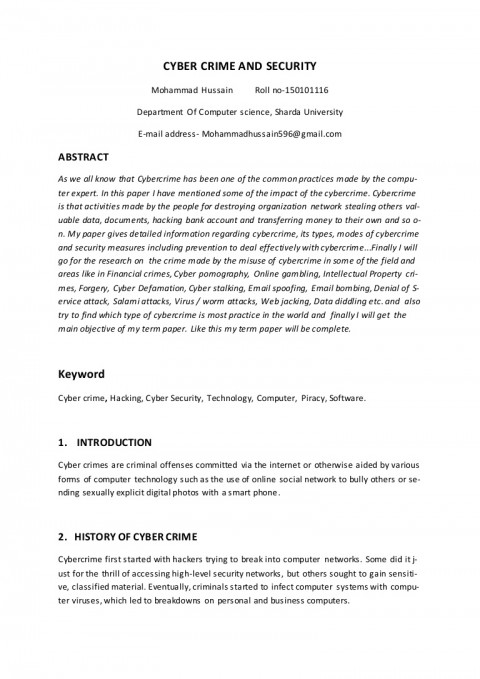 001 Cyber Security Research Paper Termpaper Thumbnail Dreaded 2019 Papers 2018 480