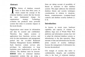 001 Database Security Research Paper Striking - Draft Papers Pdf Related
