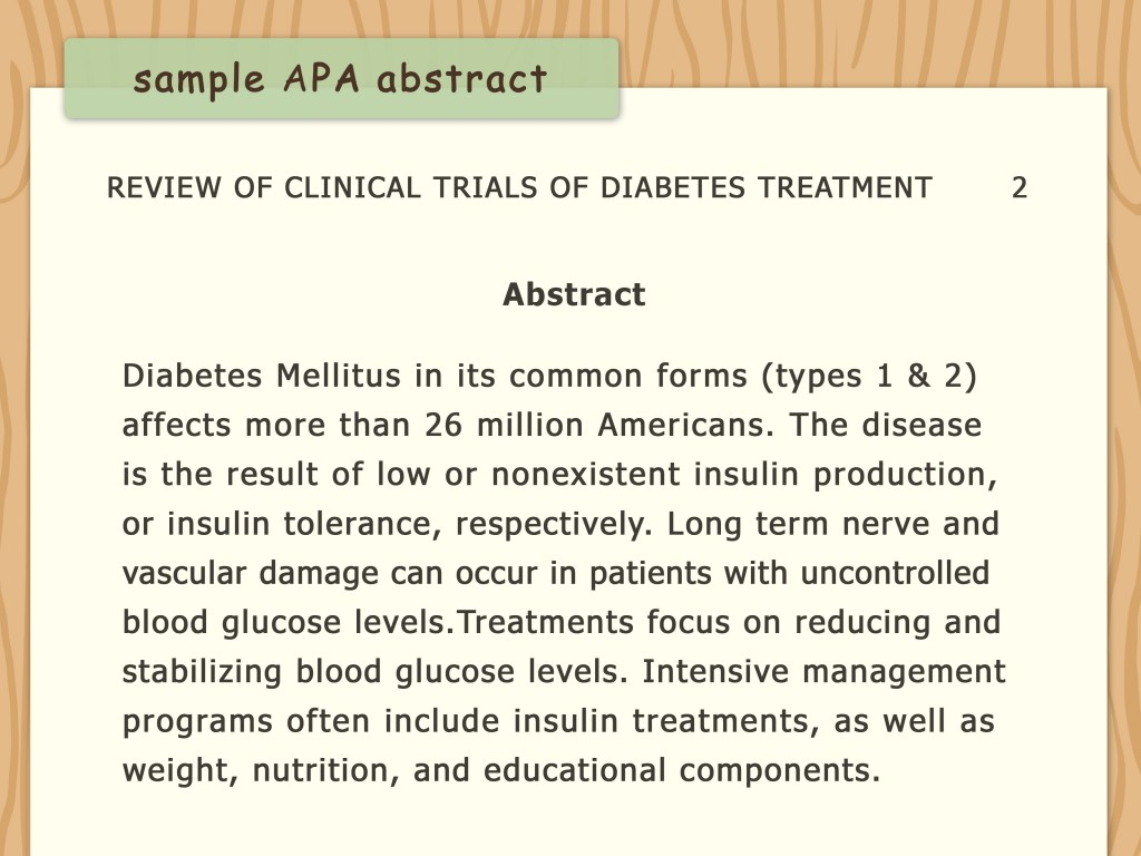 001 Diabetes Research Paper Apa Format Write An Style Step Version Stirring Large