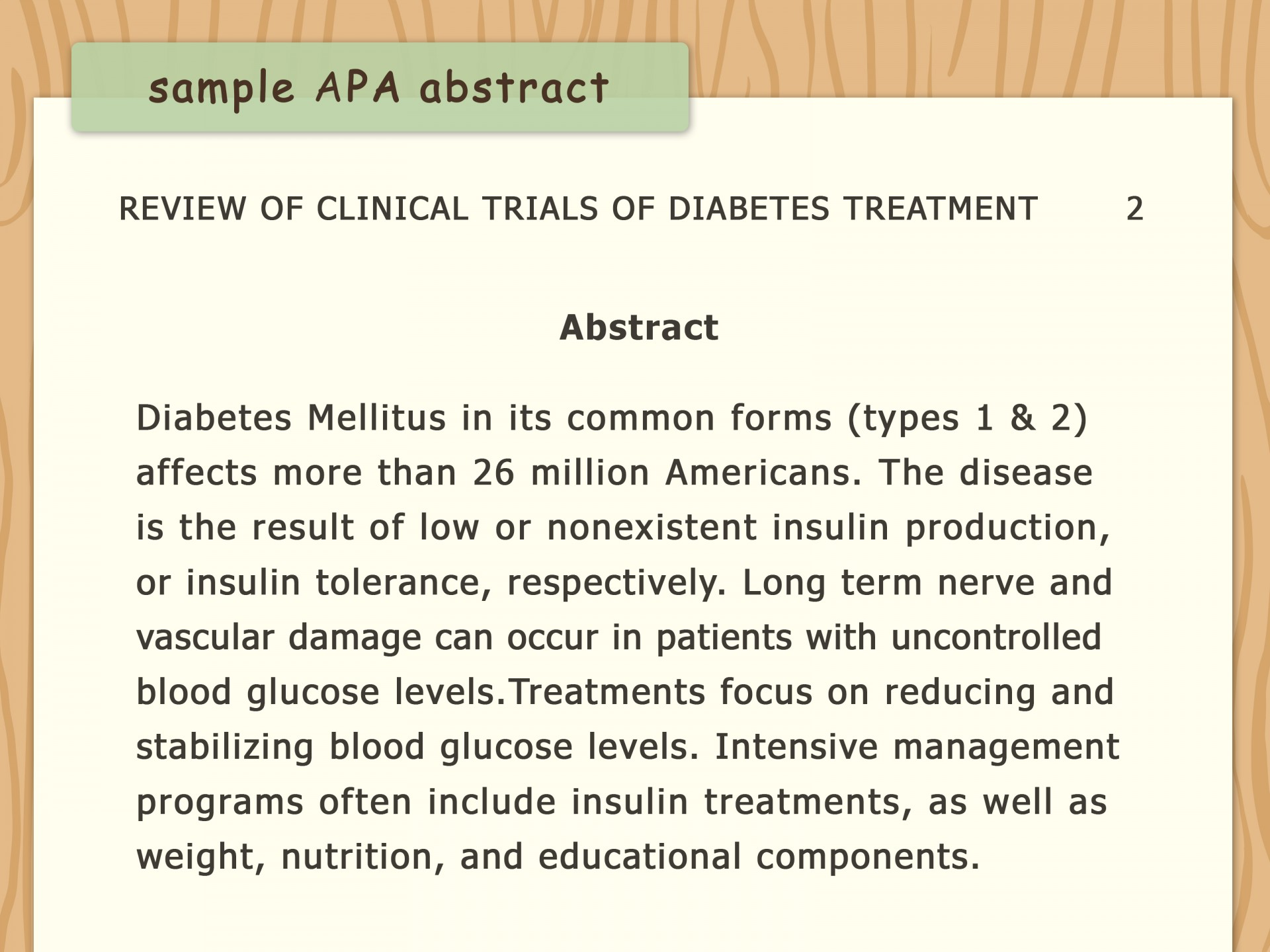 001 Diabetes Research Paper Apa Format Write An Style Step Version Stirring 1920