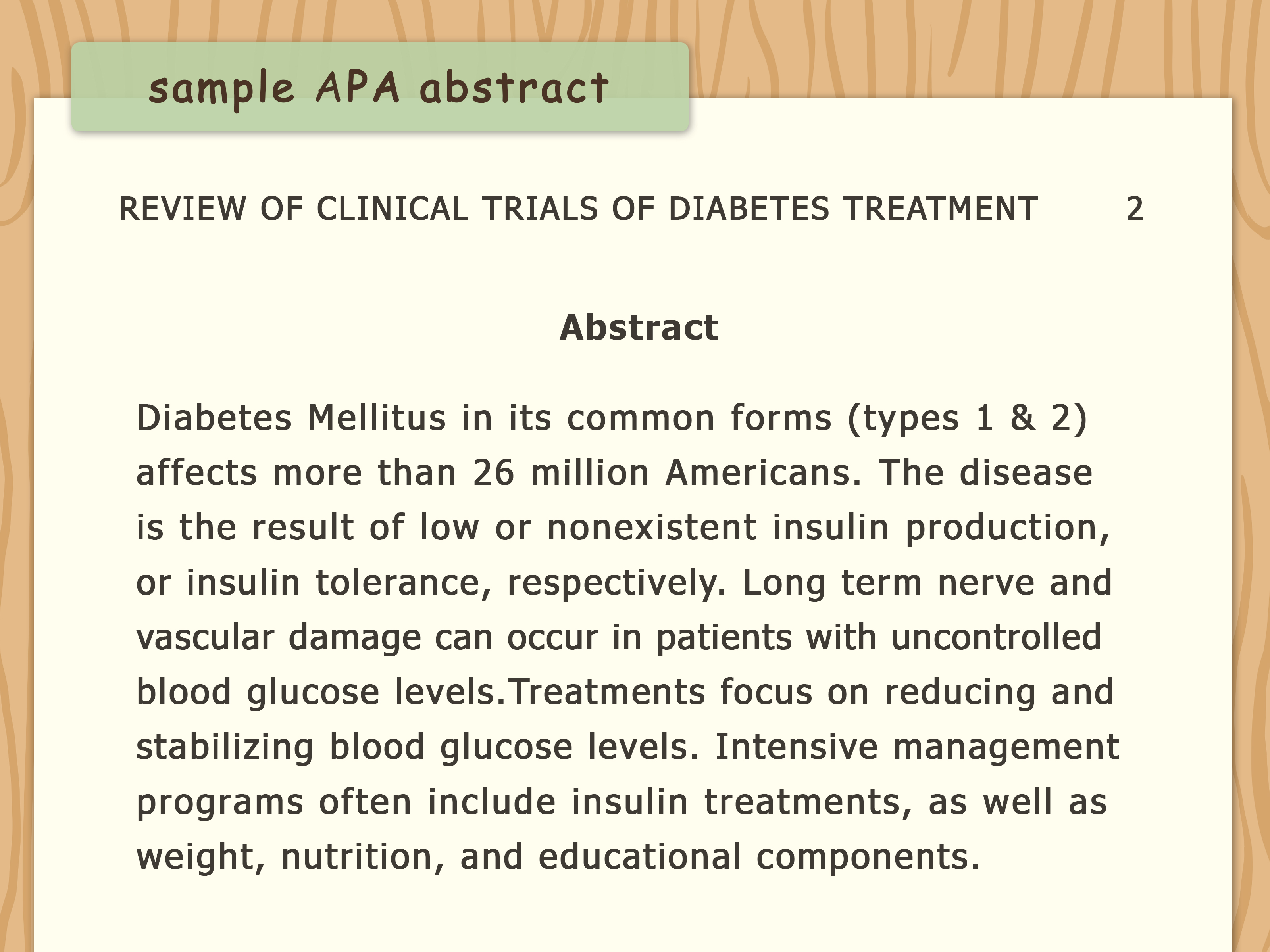 001 Diabetes Research Paper Apa Format Write An Style Step Version Stirring Full