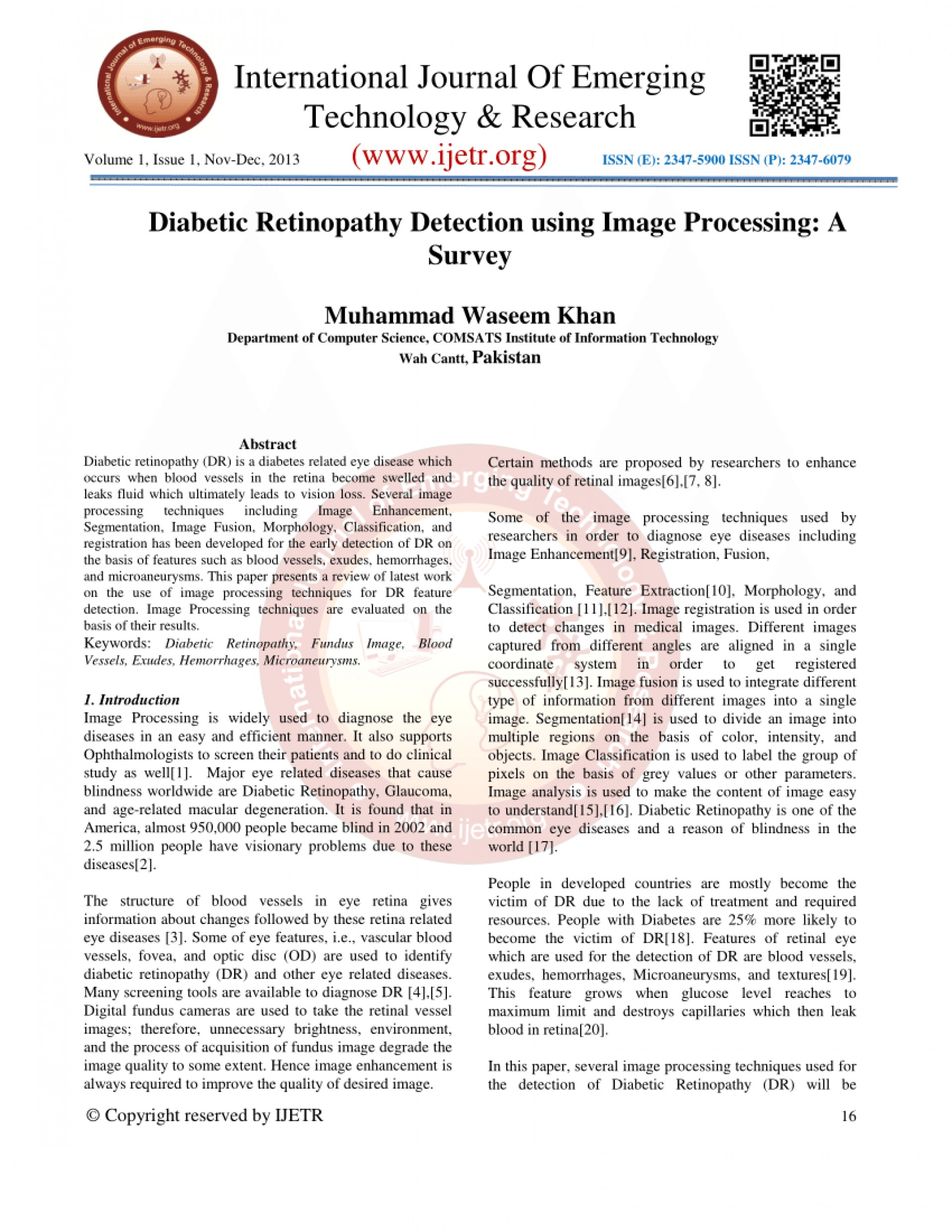 001 Diabetic Retinopathy Detection Research Paper Unusual 1920