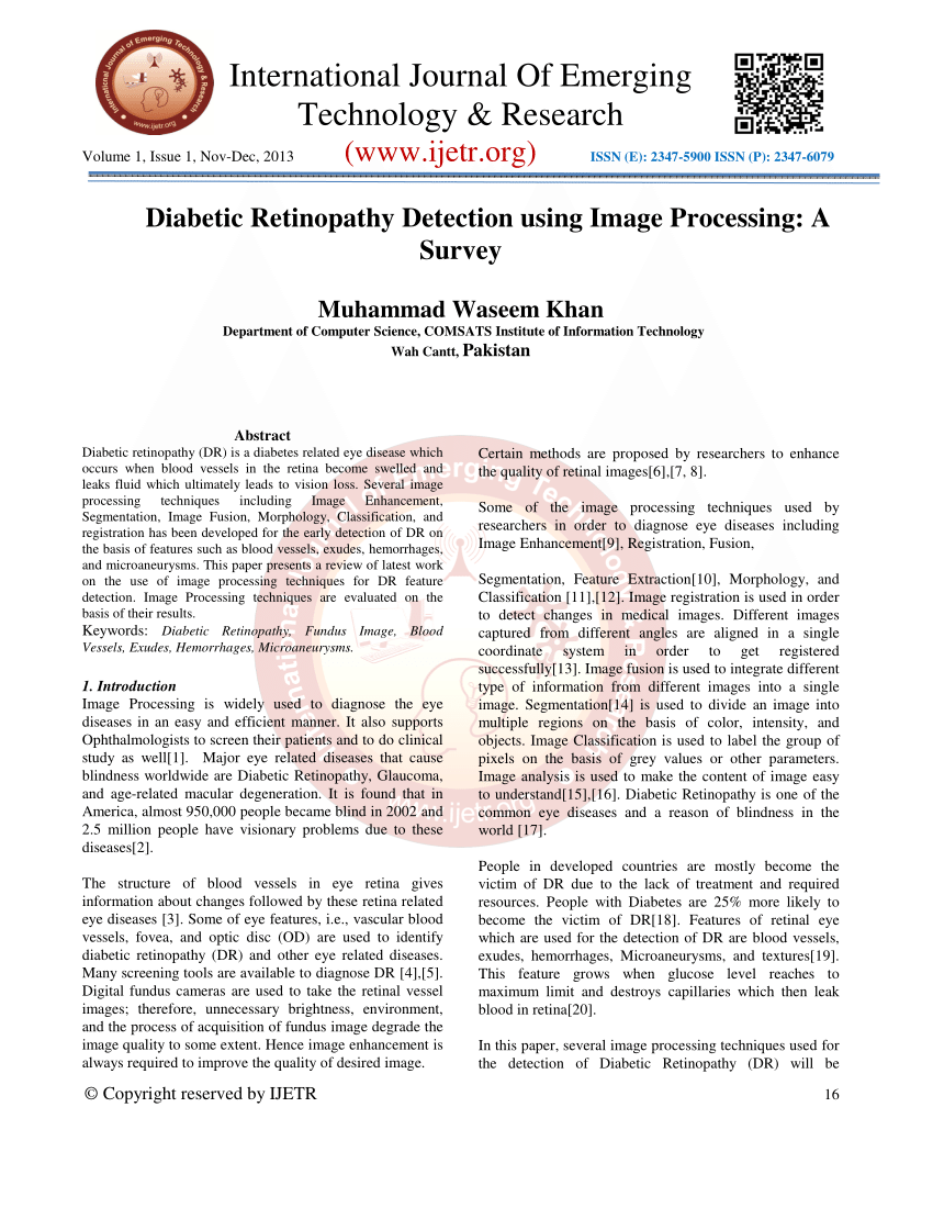 001 Diabetic Retinopathy Detection Research Paper Unusual Full