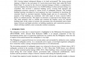 001 Earthquake Research Paper Pdf Philippines Wondrous