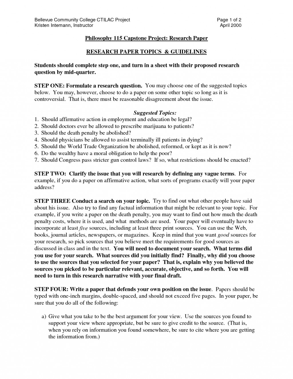 001 Example College Research Paper Shocking Of A Outline Large