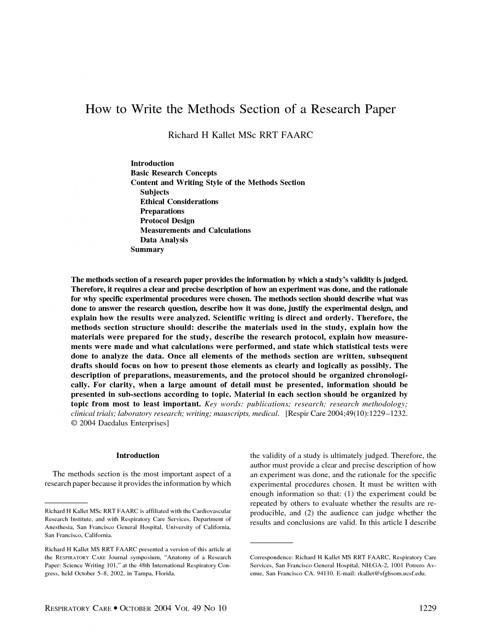 001 Example Of Methodology Section Research Paper Astounding Procedure A In Experimental 1920