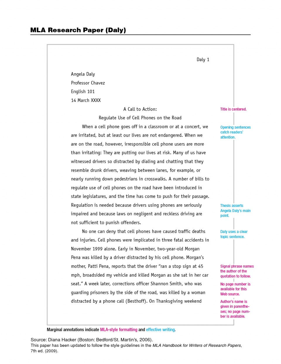 001 Example Of Mla Research Paper Format Imposing With Cover Page Footnotes 960