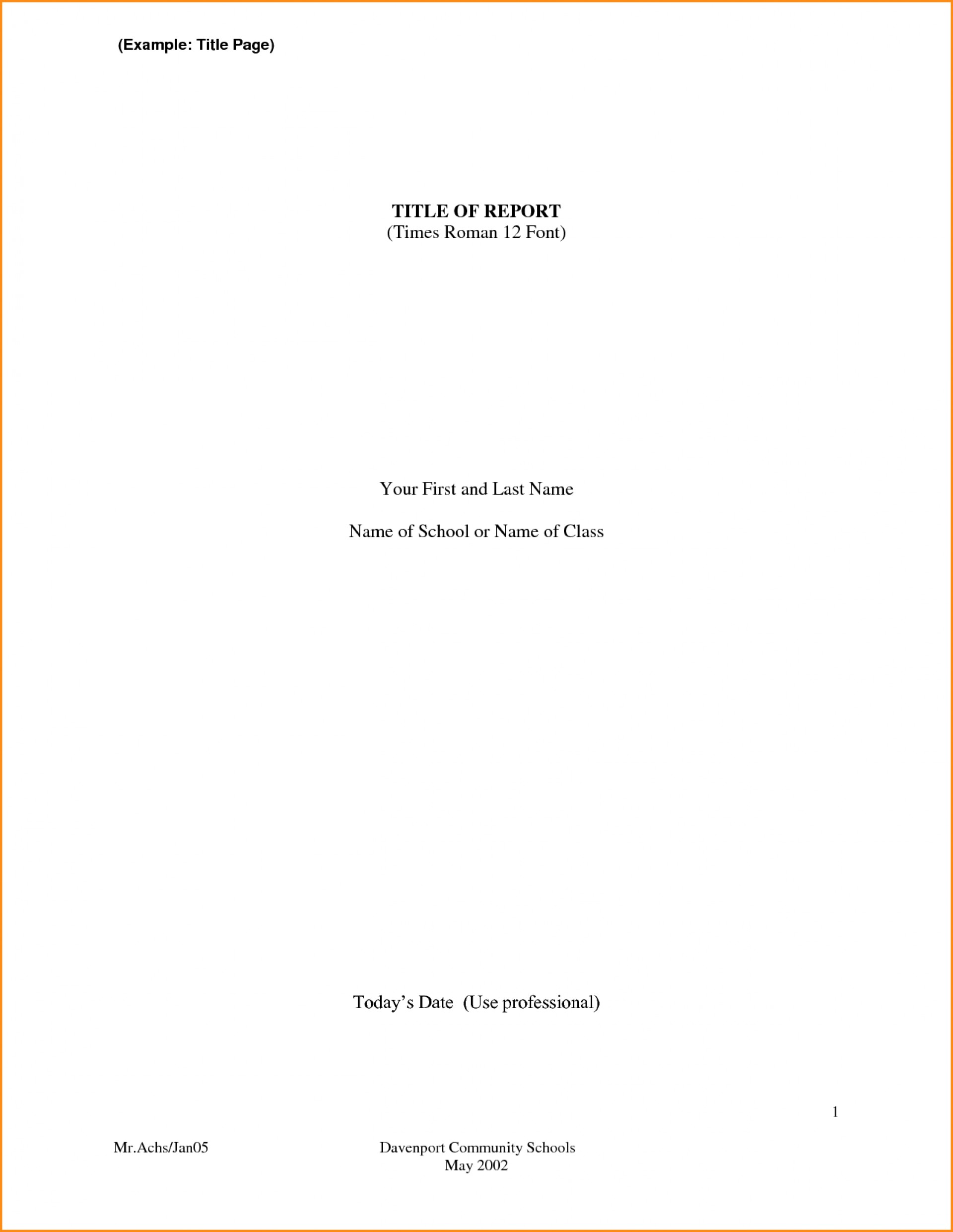 001 Front Page Format For Research Paper Of Fantastic Sample 1920