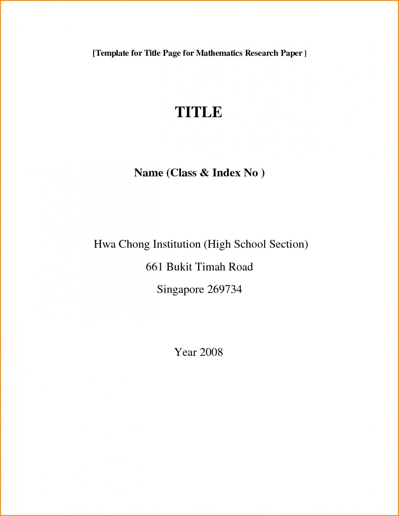 001 Front Page Of Research Paper Format Rare Cover First Mla Template Chicago Style 1400