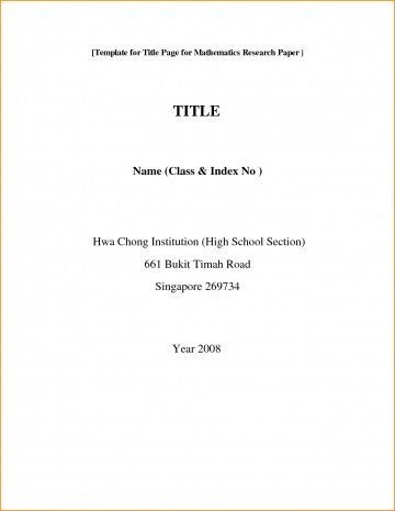 001 Front Page Of Research Paper Format Rare Cover First Mla Template Chicago Style 360