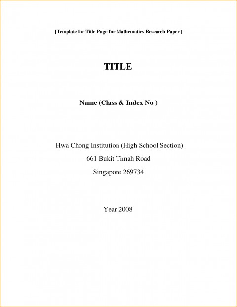 001 Front Page Of Research Paper Format Rare Cover Mla Sheet For 480
