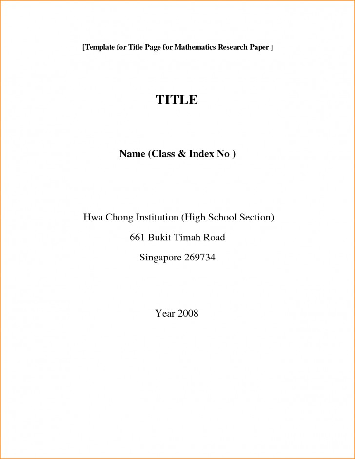 001 Front Page Of Research Paper Format Rare Cover Mla Sheet For 728