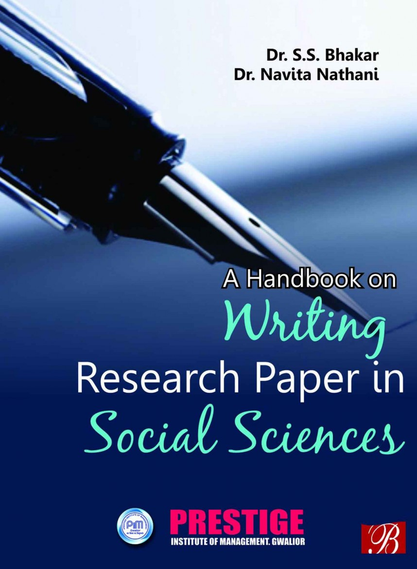 001 Handbook On Writing Research Paper In Social Sciences Stunning A