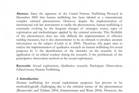 001 Human Trafficking Research Paper Striking In India Pdf Conclusion Titles