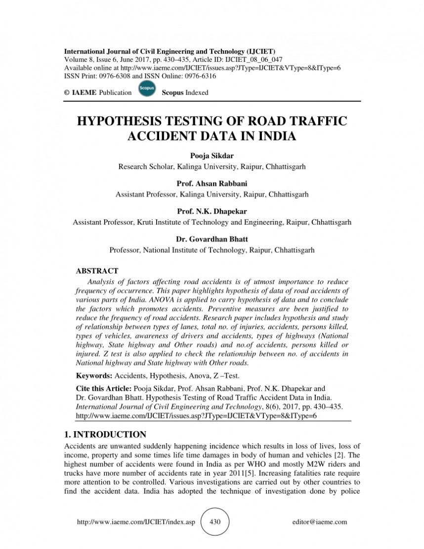 001 Hypothesis Testing In Research Paper Awesome Pdf