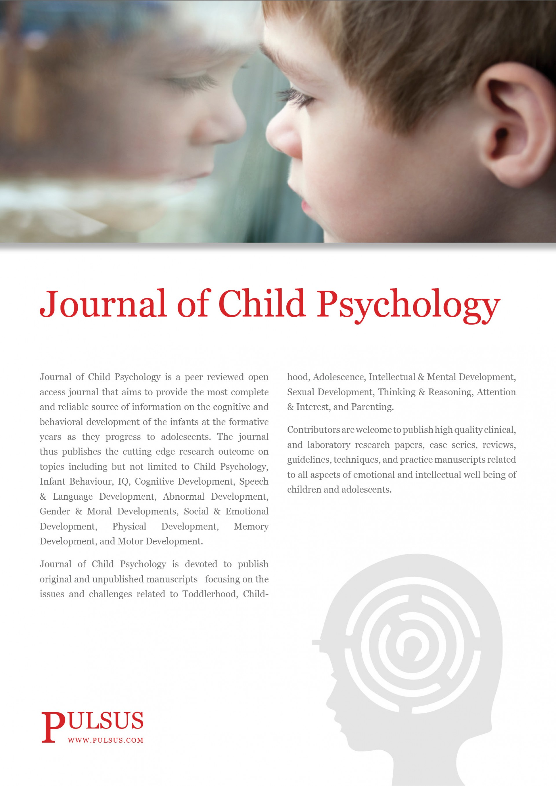 001 Journal Of Child Psychology Flyer Research Paper Articles On Wondrous Development 1920