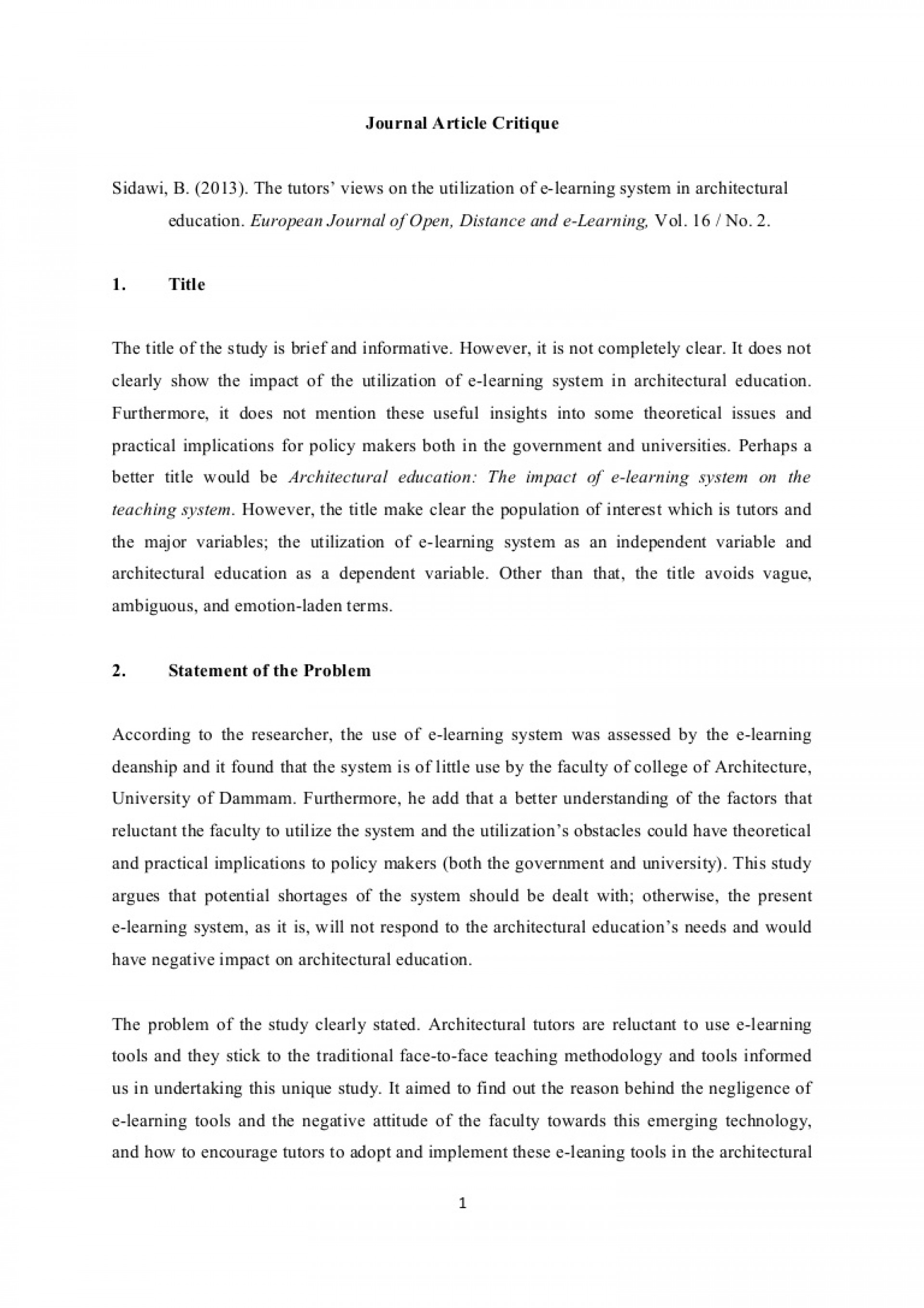 001 Journalarticlecritique Phpapp01 Thumbnail How To Critique Research Paper Stunning A Ppt Powerpoint Presentation 1920