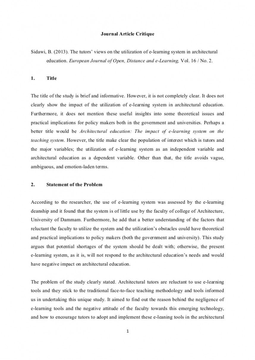 001 Journalarticlecritique Phpapp01 Thumbnail How To Critique Research Paper Stunning A Ppt Powerpoint Presentation
