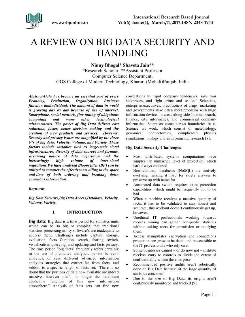 001 Largepreview Database Security Related Researchs Impressive Research Papers Pdf Full