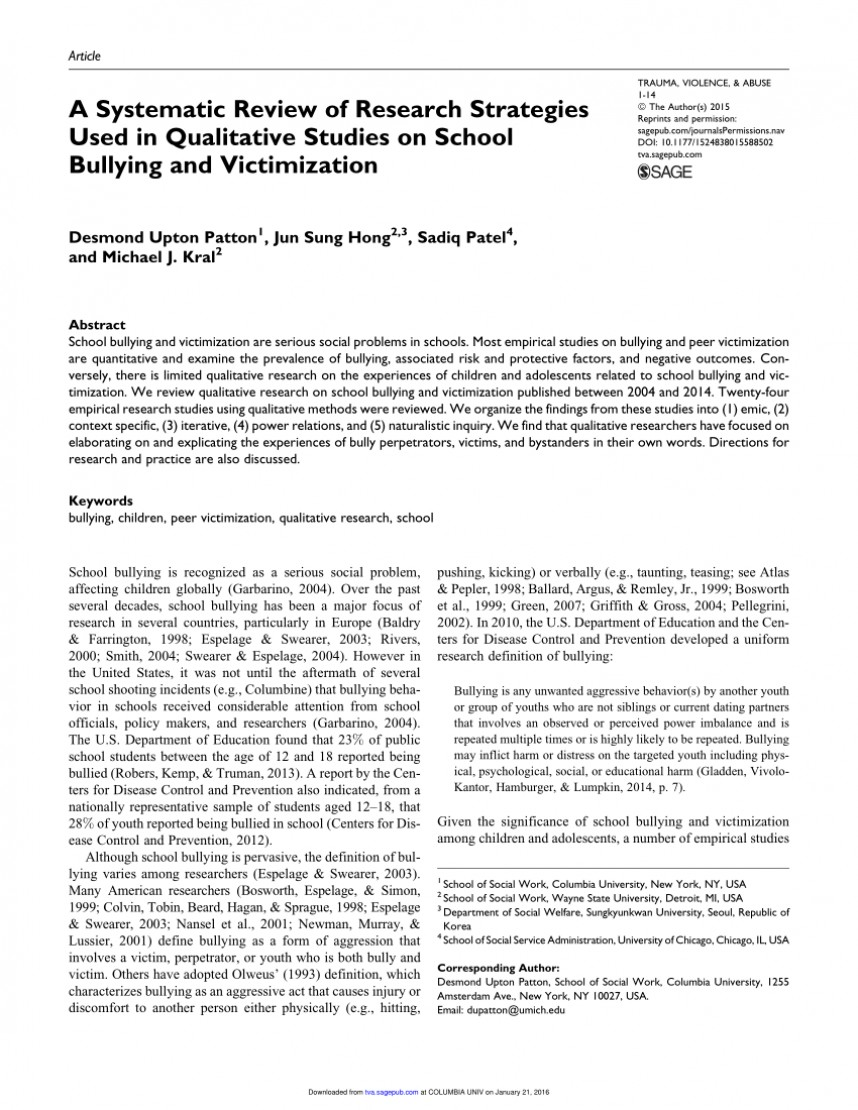 001 Largepreview Empirical Research Articles On Bullying Best