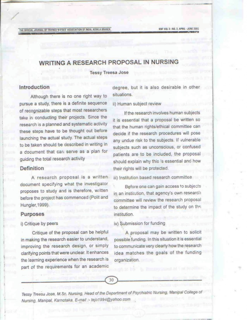 001 Largepreview Example Of Research Proposal Paper In Exceptional Nursing
