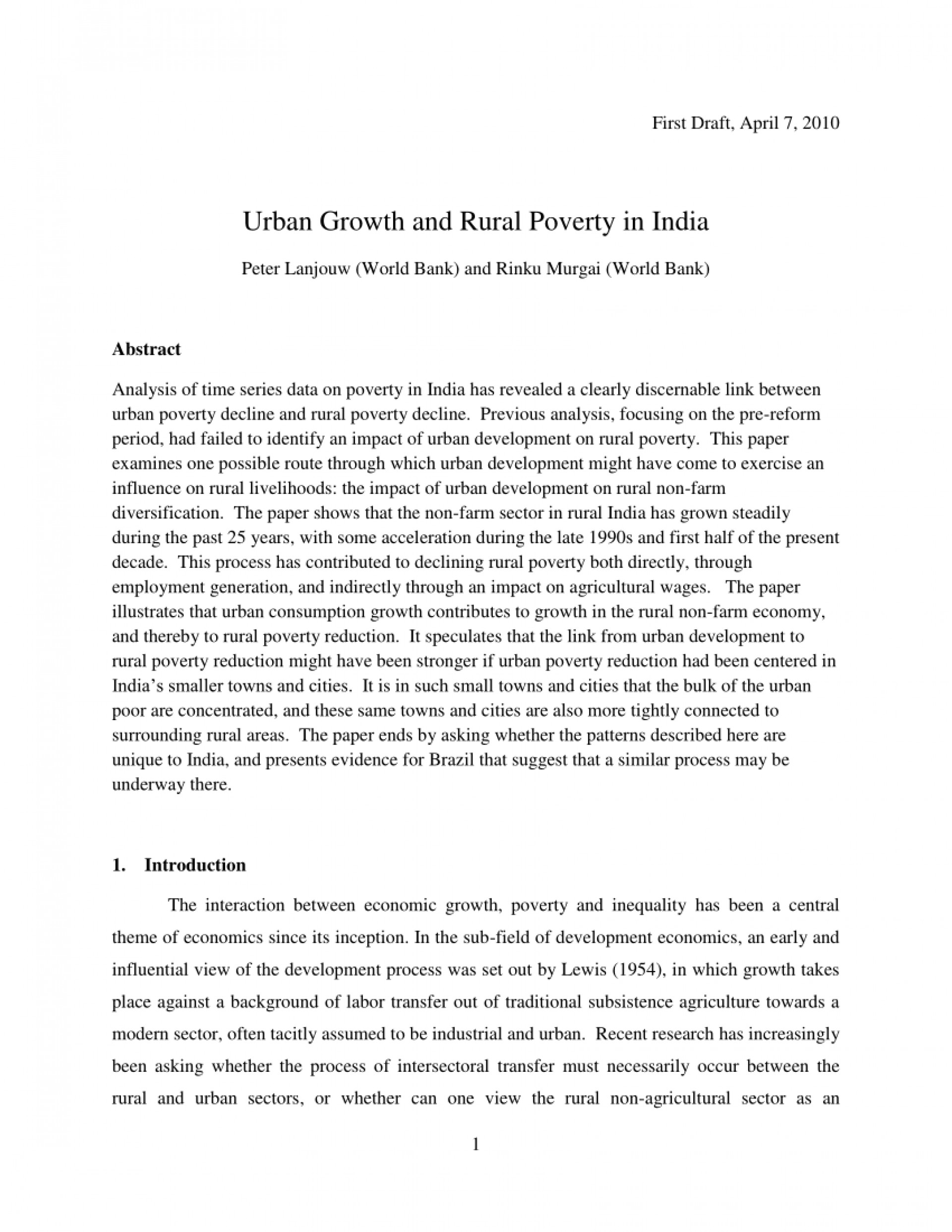 001 Largepreview Poverty In India Research Paper Impressive Pdf 1920