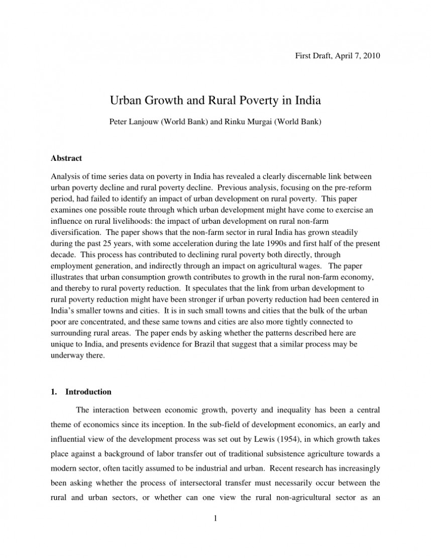 001 Largepreview Poverty In India Research Paper Impressive Pdf