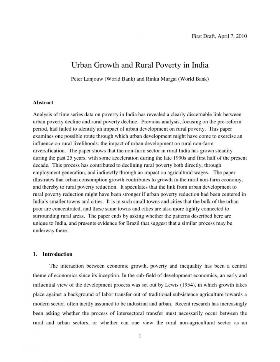 001 Largepreview Poverty In India Research Paper Impressive Pdf 960