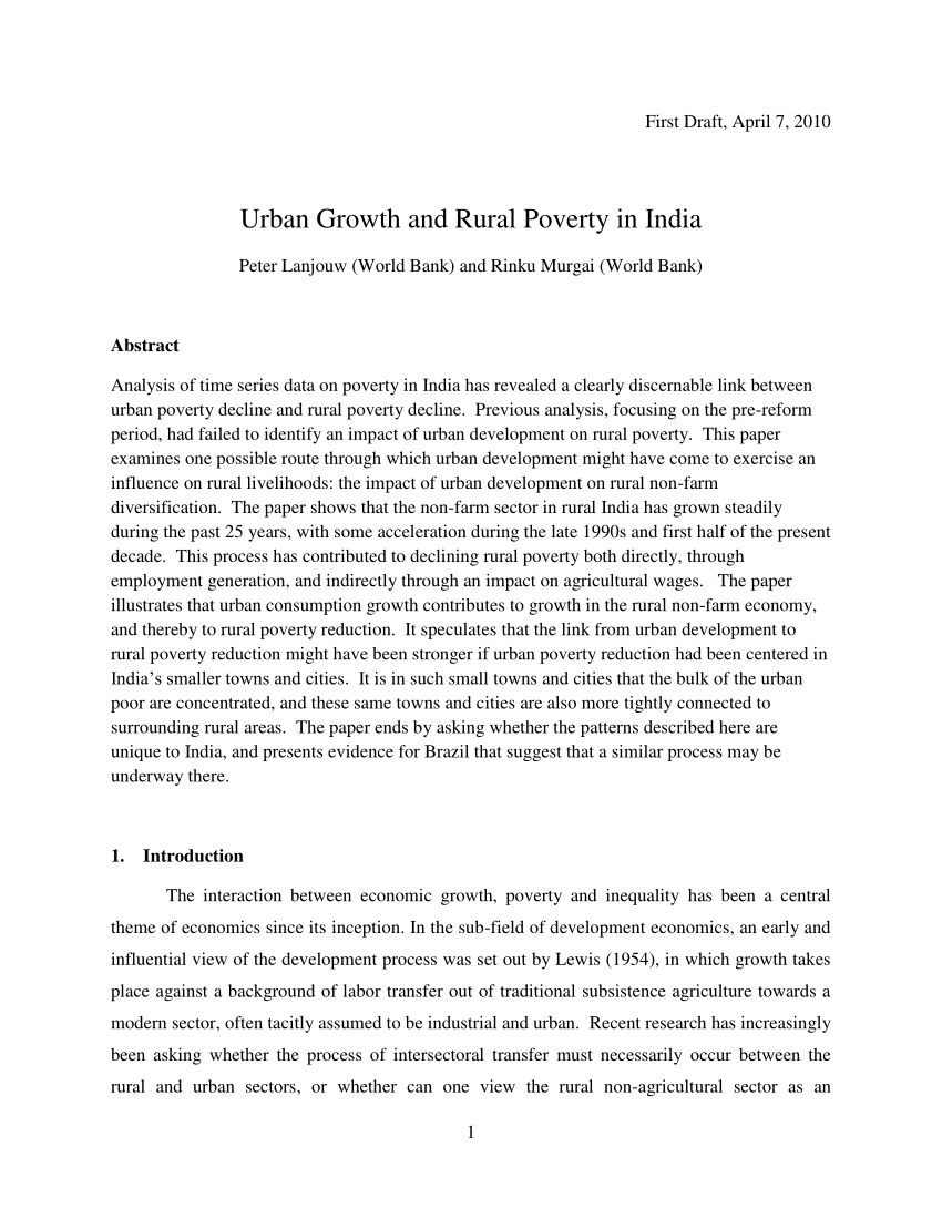 001 Largepreview Poverty In India Research Paper Impressive Pdf Full