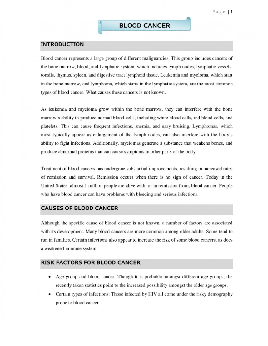 001 Largepreview Research Paper Blood Cancer Fearsome Essay Acute Myeloid Leukemia Uk Partnership For